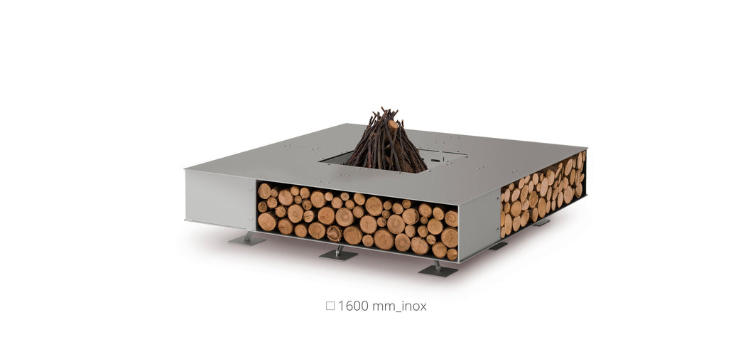 AK47 Design Toast Inox Small Wood-Burning Fire Pit - The Outdoor Fireplace Store