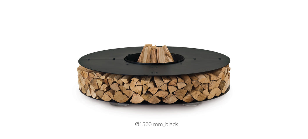 AK47 Design Zero Black Small Wood-Burning Fire Pit