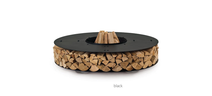 AK47 Design Zero Black Large Wood-Burning Fire Pit