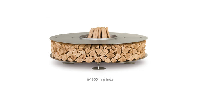 AK47 Design Zero Inox Small Wood-Burning Fire Pit