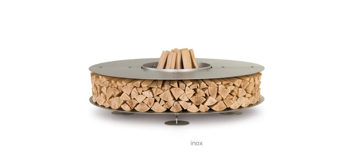 AK47 Design Zero Inox Medium Wood-Burning Fire Pit