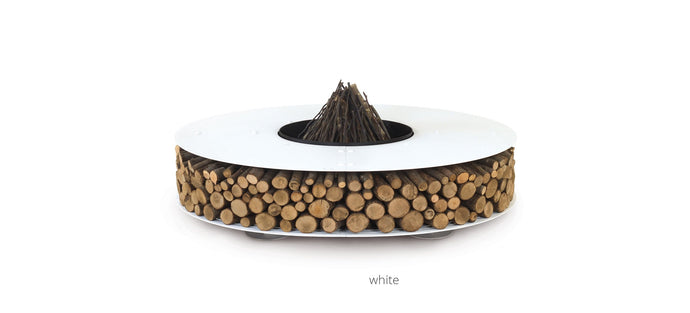 AK47 Design Zero White Medium Wood-Burning Fire Pit