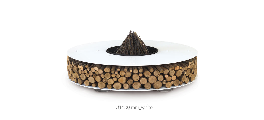 AK47 Design Zero White Small Wood-Burning Fire Pit