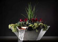 Load image into Gallery viewer, Slick Rock Cascade Square Water and Planter Bowl - The Outdoor Fireplace Store