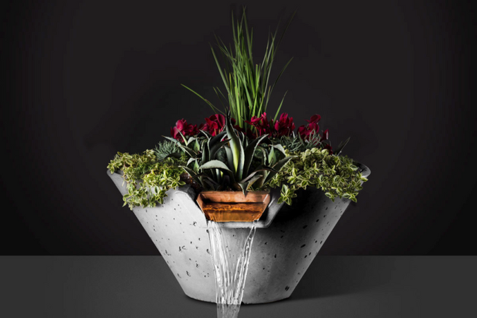 Slick Rock Cascade Conical Water and Planter Bowl - The Outdoor Fireplace Store