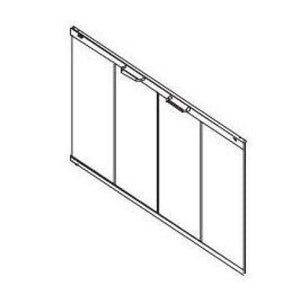 Superior Stainless on Bronze Tinted Glass Panel GEP-36BS - The Outdoor Fireplace Store