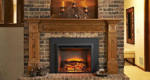 "Outdoor GreatRoom GI-29 Gallery Electric Fireplace Insert 36"" Surround - The Outdoor Fireplace Store"