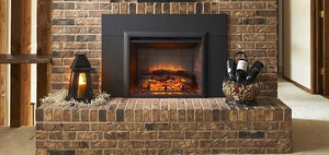 "Outdoor GreatRoom GI-29 Gallery Electric Fireplace Insert 42"" Surround - The Outdoor Fireplace Store"