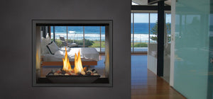 Napoleon High Definition 81 Direct Vent Gas Fireplace See Through - The Outdoor Fireplace Store