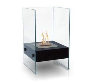 Anywhere Fireplace Hudson Indoor/Outdoor Floor Standing - Black - The Outdoor Fireplace Store