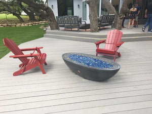 "Slick Rock Oasis 60"" Oval Fire Bowl - The Outdoor Fireplace Store"