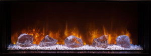 "Modern Flames 100"" Glacier Crystal Diamond Acrylic Accent GC-100/15 - The Outdoor Fireplace Store"
