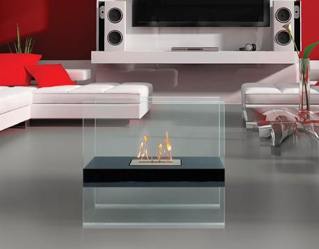Anywhere Fireplace Madison Indoor/Outdoor Floor Standing - Black - The Outdoor Fireplace Store