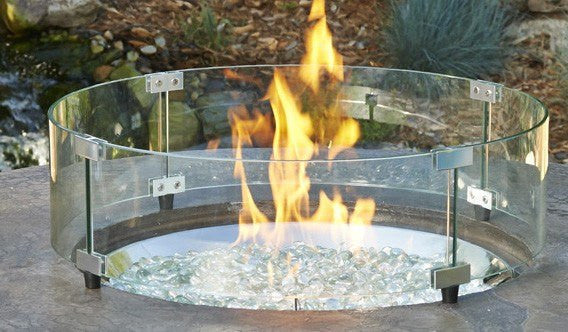Outdoor GreatRoom Glass Wind Guard GLASS GUARD-20-R - The Outdoor Fireplace Store