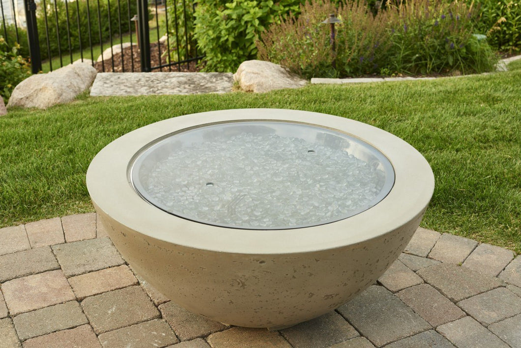 Outdoor GreatRoom Round Grey Glass Burner Cover for CF-30 - The Outdoor Fireplace Store