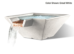 Slick Rock Cascade Square Water Bowl - The Outdoor Fireplace Store