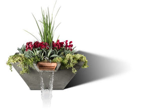 Slick Rock Cascade Square Water and Planter Bowl - The Outdoor Fireplace Store