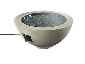 "Outdoor GreatRoom Round Cove Fire Bowl 42"" Supercast Concrete CV-30 - The Outdoor Fireplace Store"