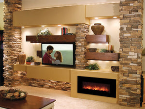 "Modern Flames 43"" Fantastic Flame No Heat Recessed Electric Fireplace - The Outdoor Fireplace Store"