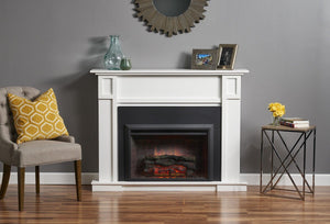Outdoor GreatRoom White Heritage Fireplace Cabinet HTG-W - The Outdoor Fireplace Store