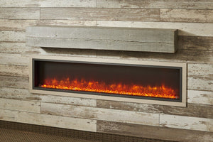 Outdoor GreatRoom Washed Cedar Linear Supercast Wood Mantel GWCT - The Outdoor Fireplace Store