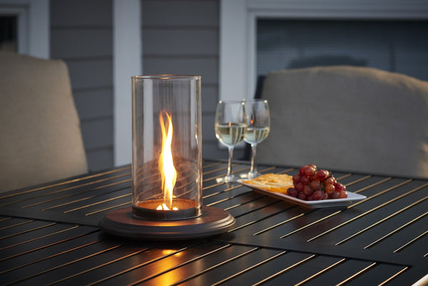 Outdoor Greatroom Intrigue Spinning Venturi Flame Table