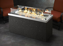 Load image into Gallery viewer, Outdoor GreatRoom Linear Key Largo Fire Pit Table Stainless Steel Top - The Outdoor Fireplace Store