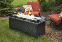 Load image into Gallery viewer, Outdoor GreatRoom Linear Montego Fire Pit Table Black Glass Top - The Outdoor Fireplace Store