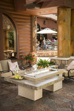 Load image into Gallery viewer, Outdoor GreatRoom Linear Uptown Fire Pit Table Brown Porcelain Tile - The Outdoor Fireplace Store