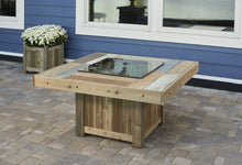 Load image into Gallery viewer, Outdoor GreatRoom Square Vintage Fire Pit Table Mocha Supercast Top - The Outdoor Fireplace Store