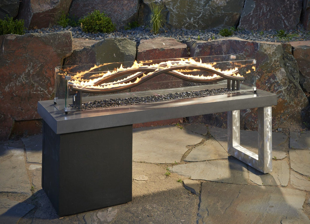 Outdoor GreatRoom The Wave Fire Pit Table w/3 Uniquely Woven Burners - The Outdoor Fireplace Store
