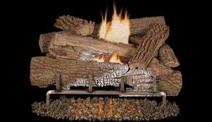 "Superior Outdoor Gas Burner System Mossy Oak 30"" VF Logs Concrete - The Outdoor Fireplace Store"