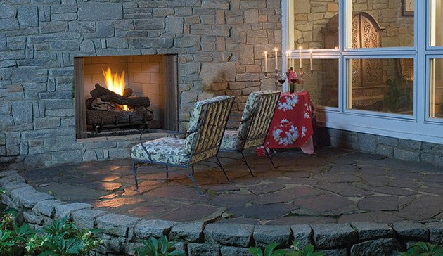 Superior 36 Paneled Outdoor Vent Free Gas Fireplace Vre4536 The Outdoor Fireplace Store