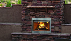 "Superior 36"" Paneled Outdoor Wood-Burning Fireplace WRE3036 - The Outdoor Fireplace Store"