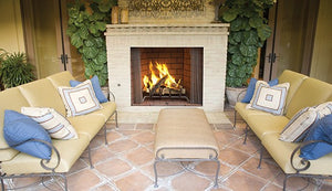 "Superior 42"" Paneled Outdoor Wood-Burning Fireplace WRE4542 - The Outdoor Fireplace Store"