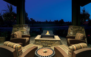 Anywhere Fireplace Gramercy Indoor/Outdoor Floor Standing - Black - The Outdoor Fireplace Store