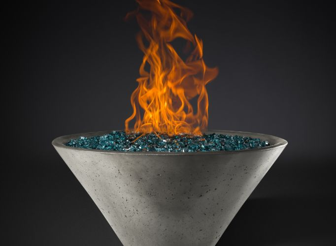 Slick Rock Ridgeline Conical Fire Bowl - Match Lit - The Outdoor Fireplace Store