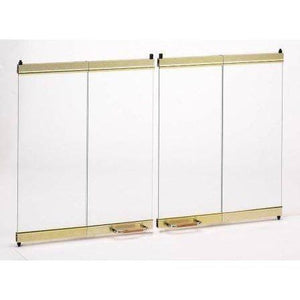 Superior Brass on Bronze Tinted Glass Panel GEP-33PB - The Outdoor Fireplace Store