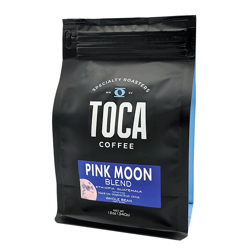 Load image into Gallery viewer, Pink Moon Blend - black tea  tropical fruit  citrus - TOCA Coffee
