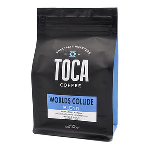 Worlds Collide Blend - smooth body earthy juicy brightness - Kenya Sumatra - TOCA Coffee