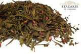 Tea Gift Set Wild Raspberry Green Loose Leaf 100g - TeaCakes of Yorkshire