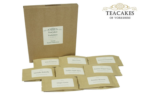 Green Tea Taster Samples Best Loose Leaf 8 x 10g - TeaCakes of Yorkshire