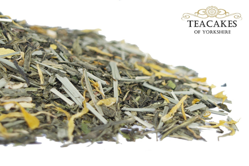 Decaffeinated Green Tea Lemon Sendai Loose Leaf Various Sizes - TeaCakes of Yorkshire