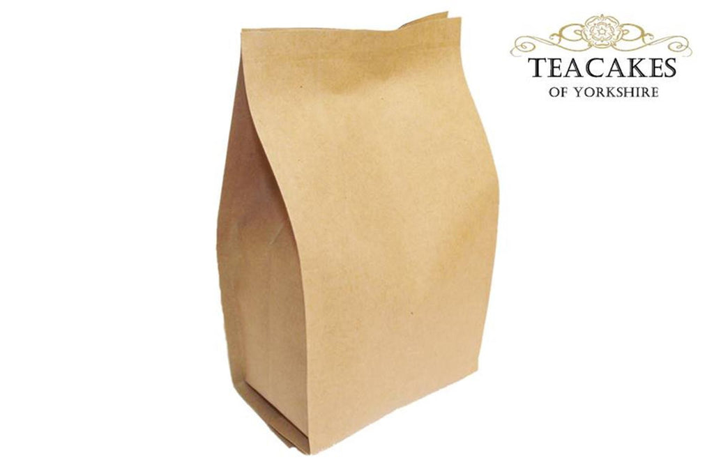 Foil Lined Kraft Paper Food Packaging Bag Tea 100g - TeaCakes of Yorkshire