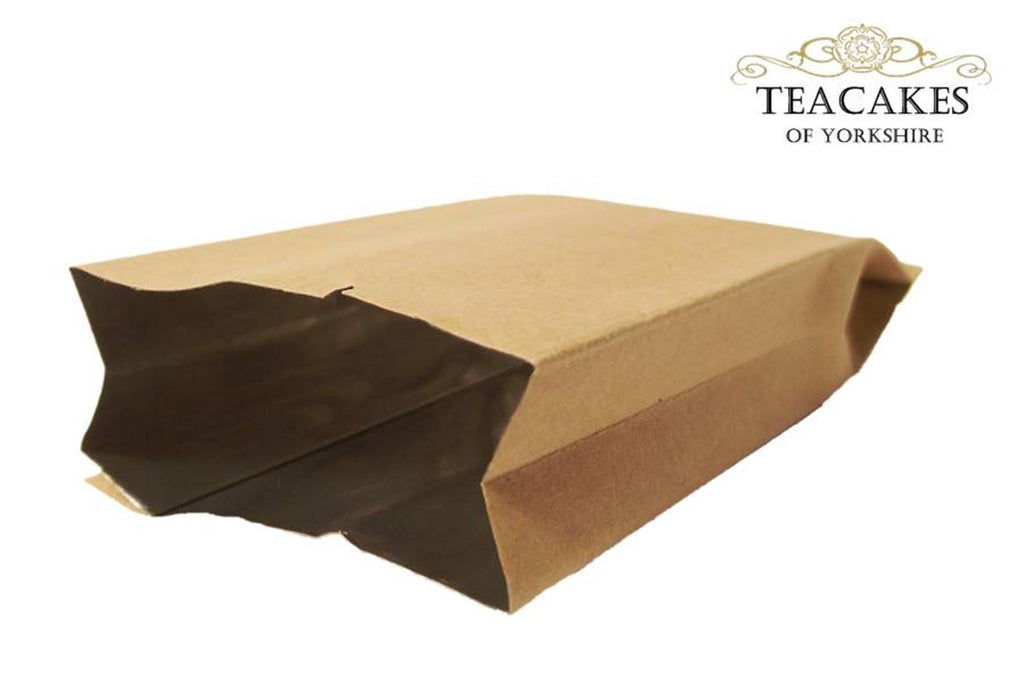 Foil Lined Kraft Paper Food Packaging Bag Tea 10g - 25g - TeaCakes of Yorkshire