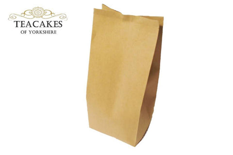 Foil Lined Kraft Paper Food Packaging Bag Tea 250g - TeaCakes of Yorkshire