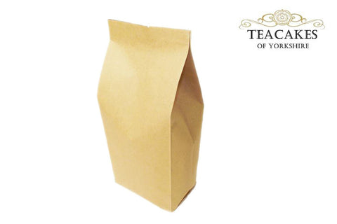 Foil Lined Kraft Paper Food Packaging Bag Tea 500g - TeaCakes of Yorkshire
