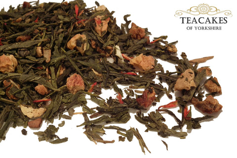 Green Loose Leaf Tea Golden Apple Spice Options - TeaCakes of Yorkshire