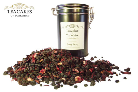 Berry Berry 100g Gift Caddy Herbal Fruit Infusion Tea - TeaCakes of Yorkshire