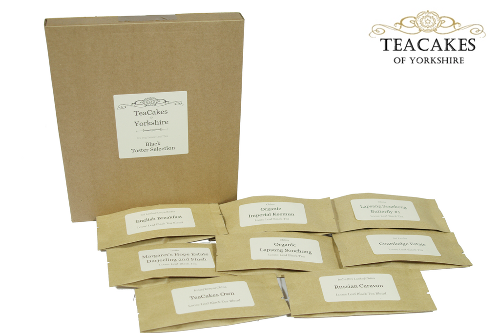 Black Tea Taster Samples Loose Leaf 8 x 10g - TeaCakes of Yorkshire